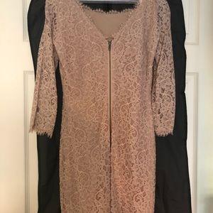 Gorgeous Diane VonFurstenburg nude dress